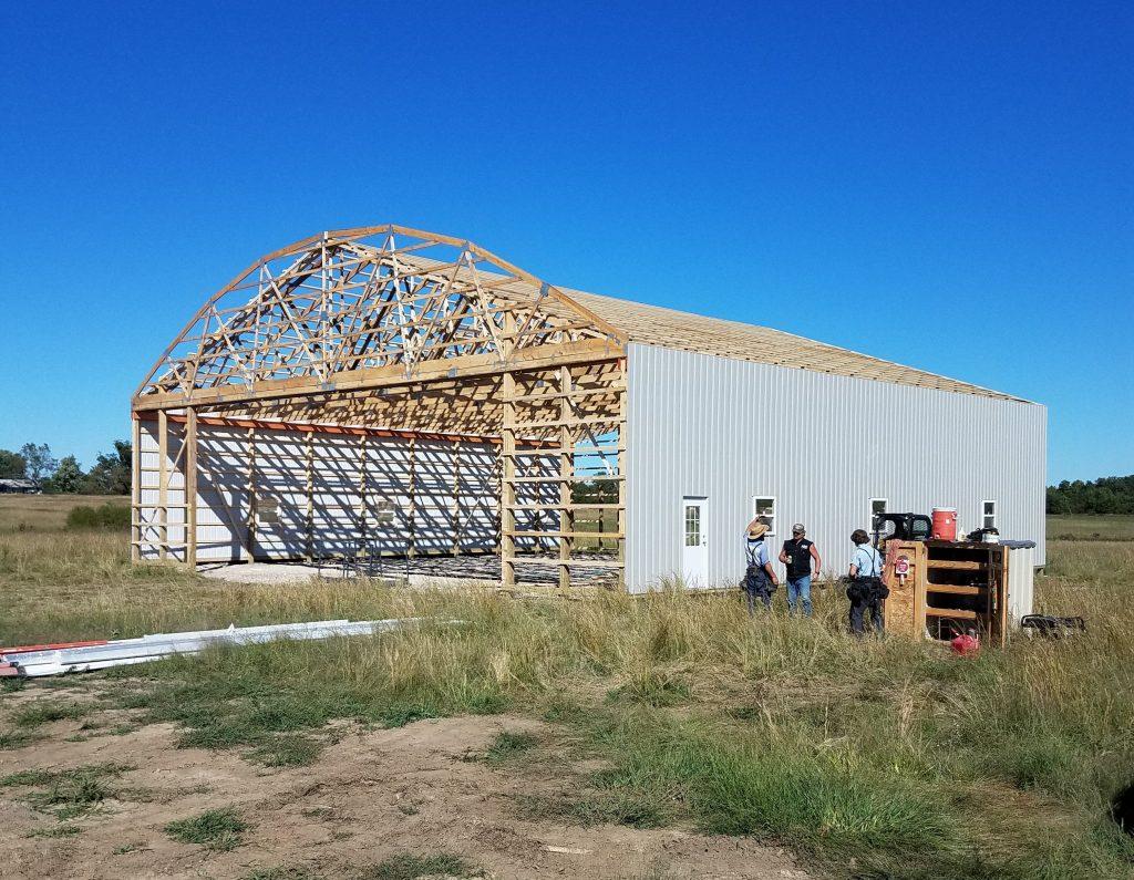 Construction of First Hangar at Linn County Airport
