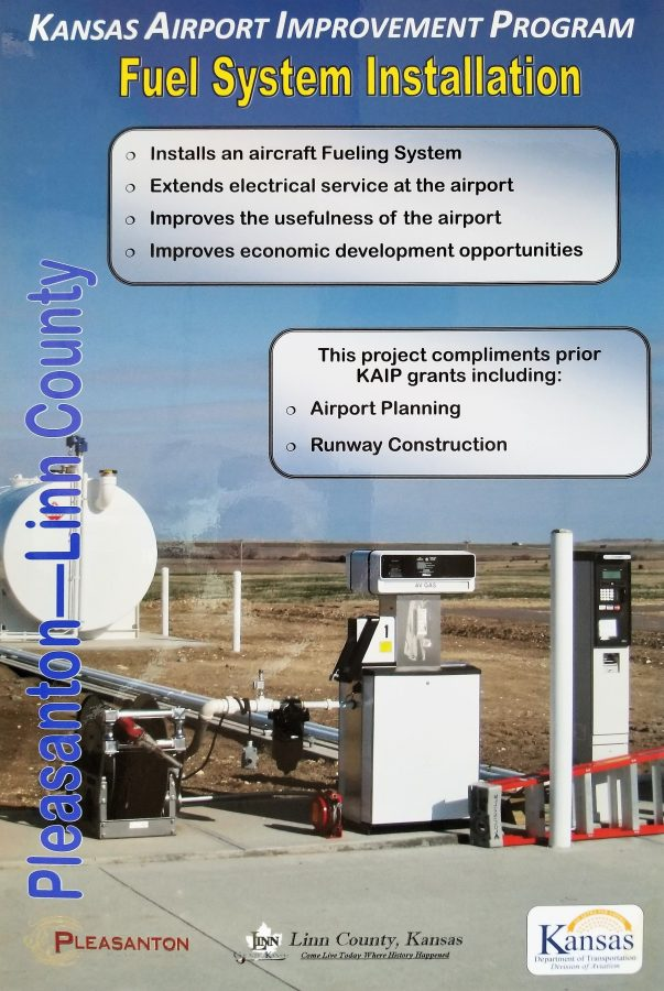 Kansas Department of Transportation joins Linn County in the Fuel System Installation project at the Linn County Airport.